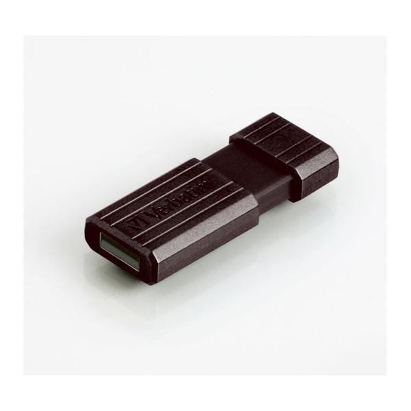 Pendrive 64GB Verbatim PinStripe Black