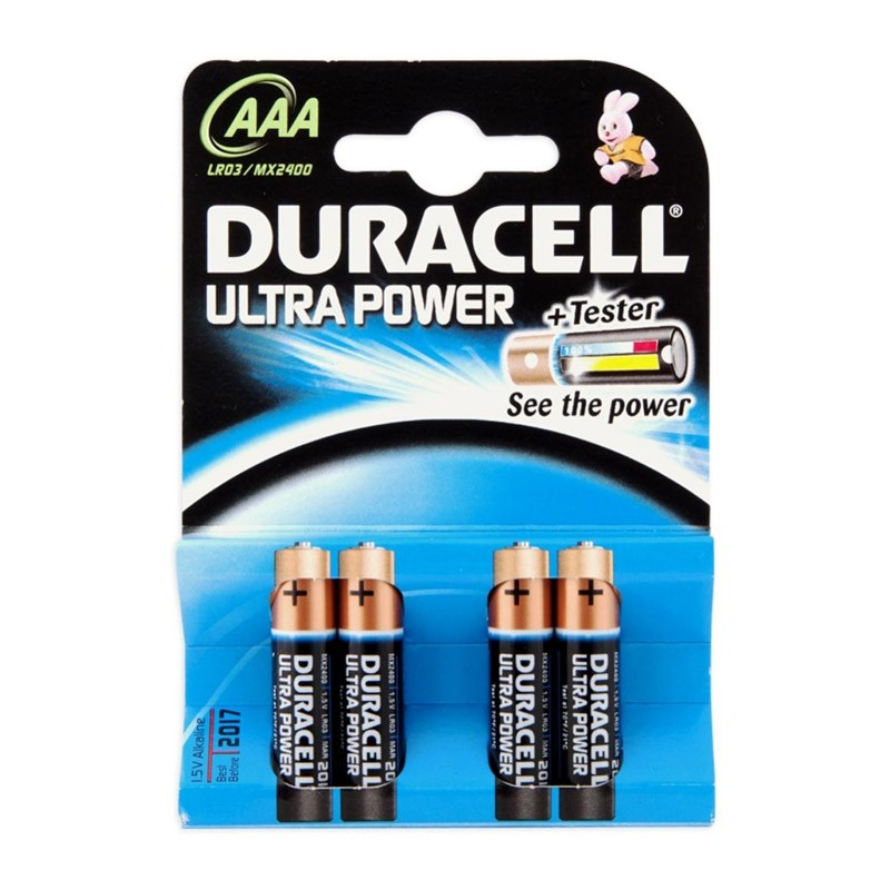 Pila Alcalina AAA Duracell Ultra Power MX2400B4 pack 4 uds (LR03)