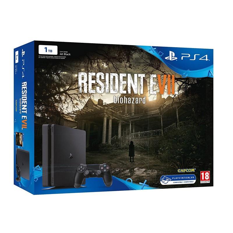 Sony PlayStation 4 Slim 1TB + Resident Evil VII