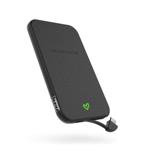 Batería Portable Power Bank 2500mAH Energy Extra Battery 2500 Negro