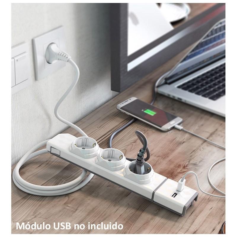 Regleta Allocacoc PowerStrip 3 Sockets 1mtr