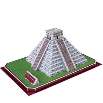 Puzzle Kit 3D Piramide Maya (50 piezas)