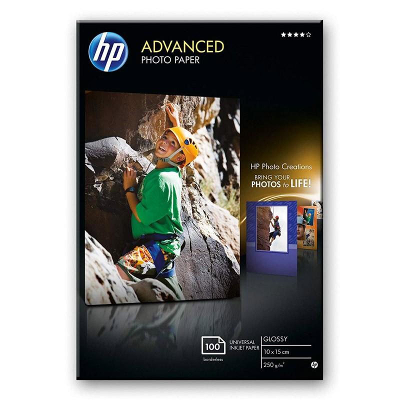 HP Papel Foto Advanced Glossy 250 g/m2, 100 hojas (100x150mm) - Pack 2 Unidades