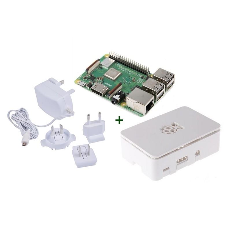 Kit Raspberry Pi 3 Model B+ + Caja Blanca + Fuente 5V
