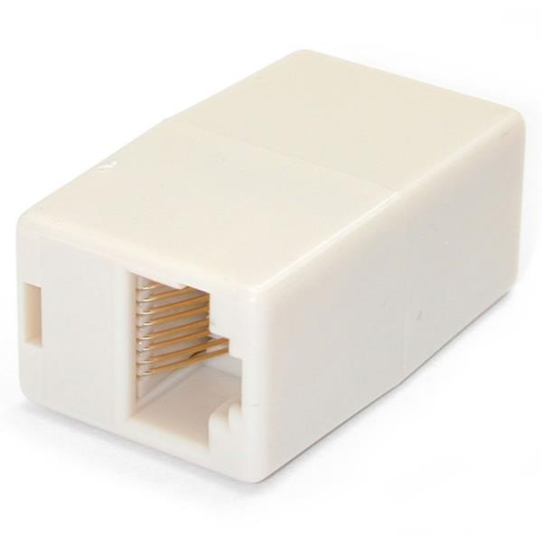 Caja de Empalme Acoplador de Cable Cat5 Ethernet UTP Beige