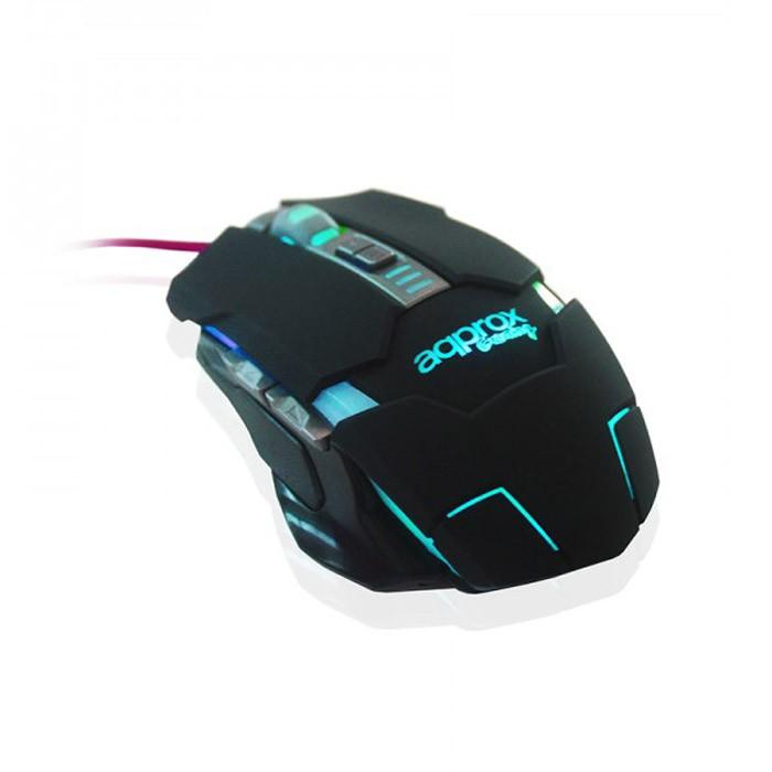 Ratón Óptico USB Gaming Approx WARII 2400DPI