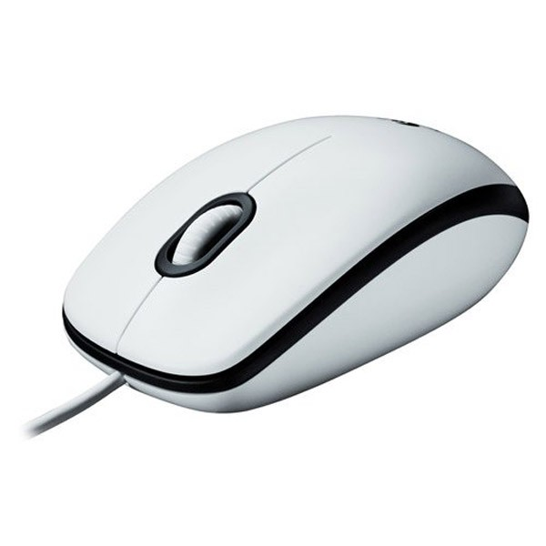 Ratón Óptico usb logitech mouse m100 blanco 1000 dpi