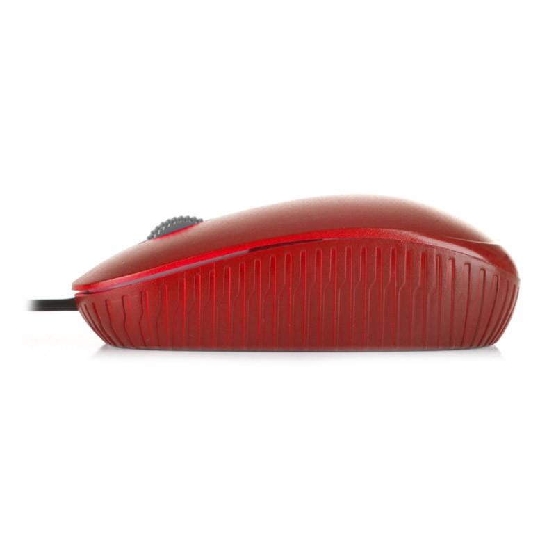 Ratón Óptico USB NGS Flame Rojo dpi 1000