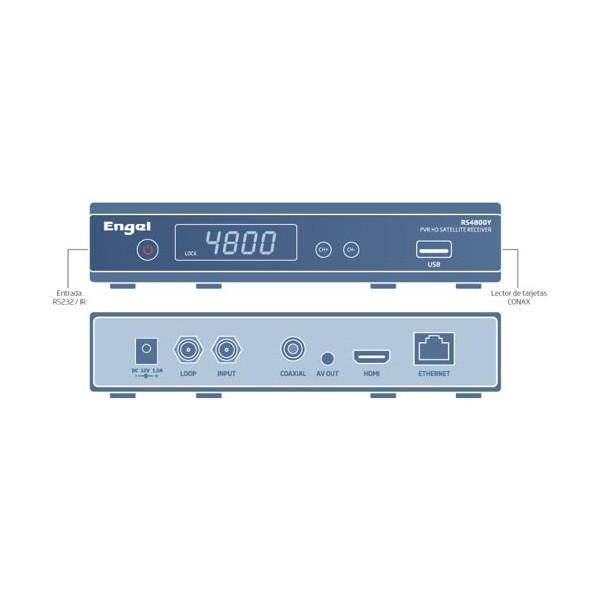 Receptor Satelite HD Engel PVR RS4800Y  IKS