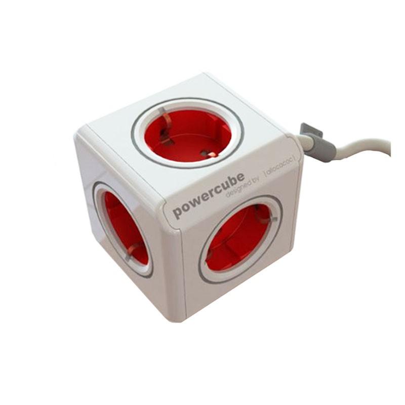 Regleta Allocacoc PowerCube 5 Tomas 1.5M Rojo
