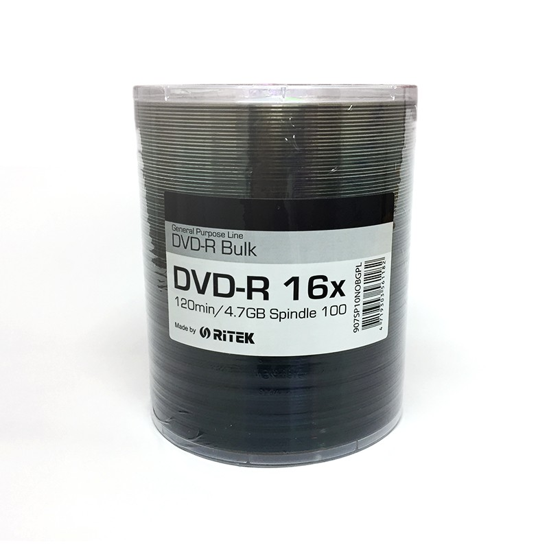 DVD-R 16x Ritek Bulk Bobina 100 Uds