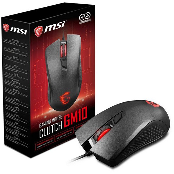 Ratón MSI Clutch GM10 2400 DPI