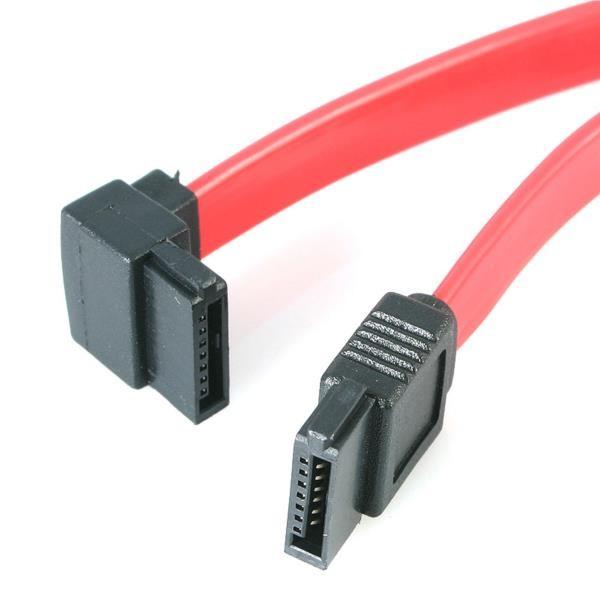 Cable SATA a SATA Acodado a la Izquierda - 12 pulgadas