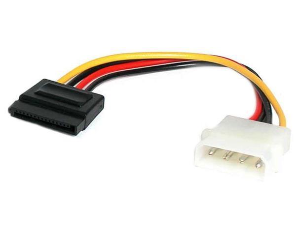 Cable Adaptador Alimentacion 15cm MOLEX LP4 a SATA 15 Pines