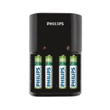 Cargador de Pilas Philips MultiLife (AA / AAA) + 4 Pilas AAA