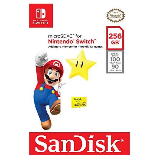Tarjeta MicroSDXC 256GB UHS-I U3 Sandisk Nintendo Switch