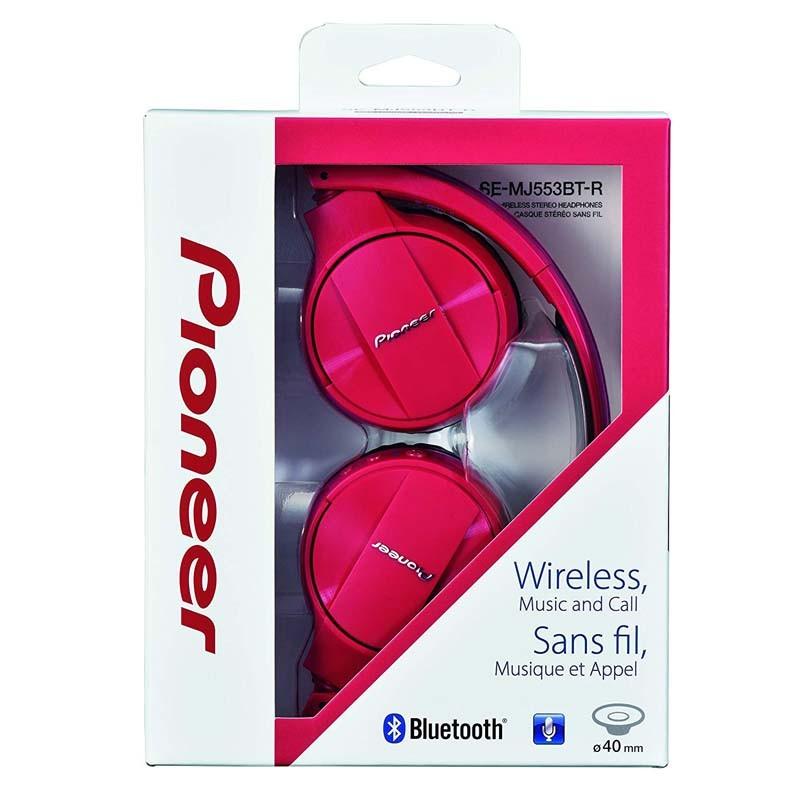 Auricular Bluetooth Pioneer SE-MJ553BT-R