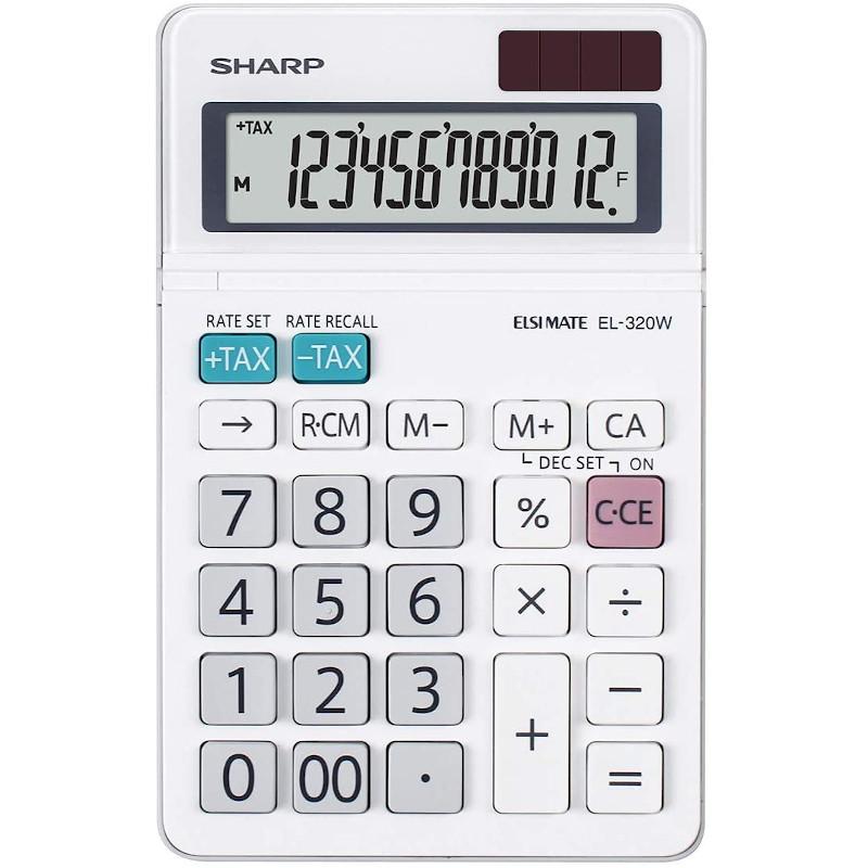 Calculadora de Bolsillo Sharp SH-EL320W - 12 Dígitos