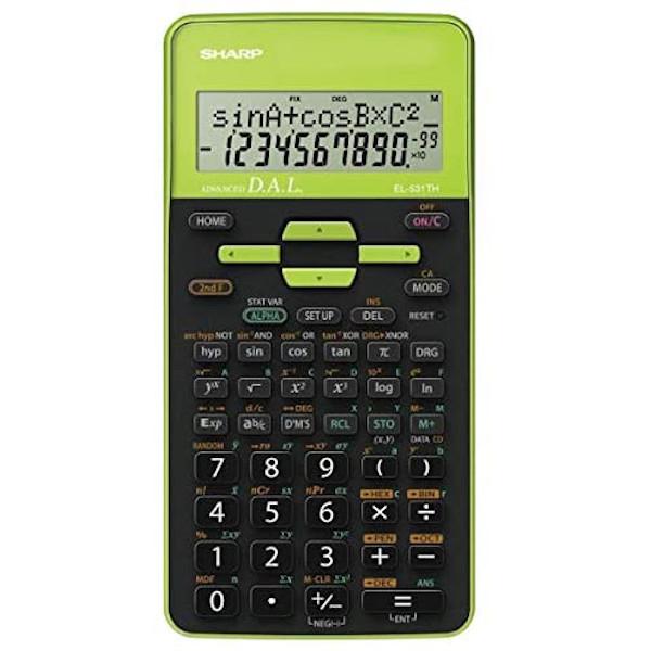 Calculadora Científica Sharp SH-EL531THGR - 10 Dígitos Verde