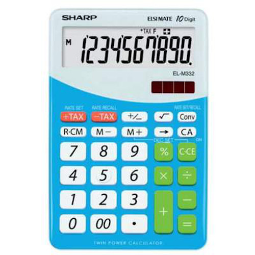 Calculadora de Sobremesa SharpSH-ELM332BBL - 10 Dígitos