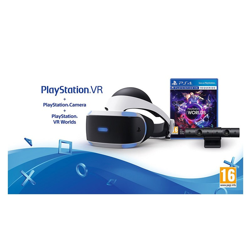 Sony Gafas PlayStation VR + Cámara + VR Worlds