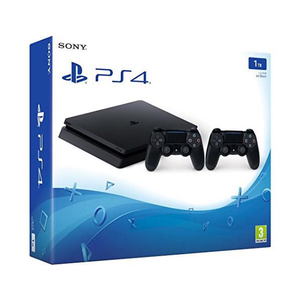 Sony PlayStation 4 Slim 1TB Negro con 2 Mandos
