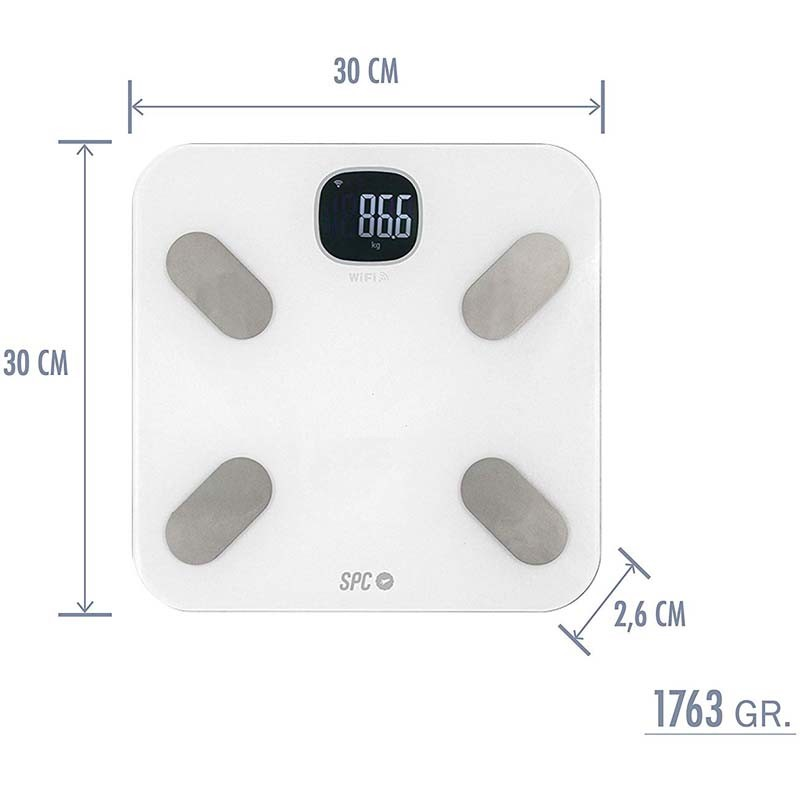 Báscula Inteligente SPC Atenea Fit Blanca - SPC IoT