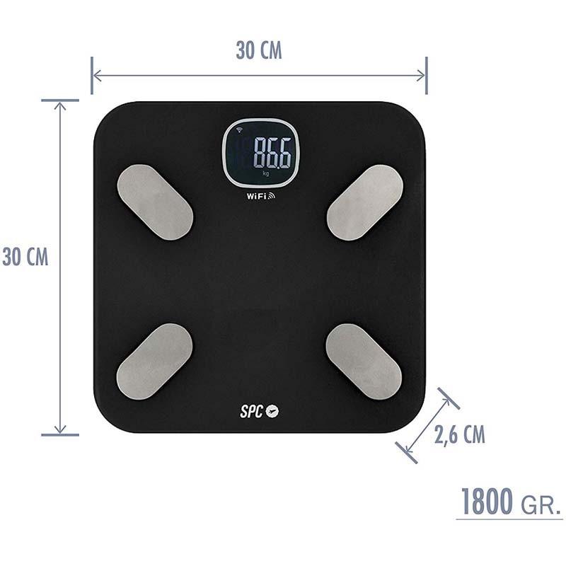 Báscula Inteligente SPC Atenea Fit Negro - SPC IoT