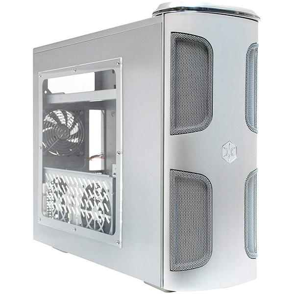 Caja PC ATX Silverstone KL03S-W Kublai Silver con Ventana