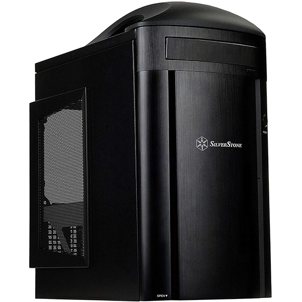 Caja PC mATX Silverstone SG04B-F Negro