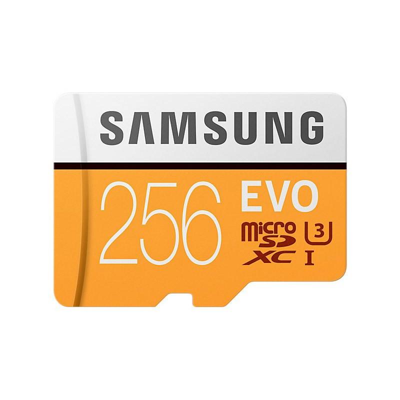 Tarjeta MicroSDXC 256GB Clase 10 UHS-I U3 Samsung EVO c/Adapt