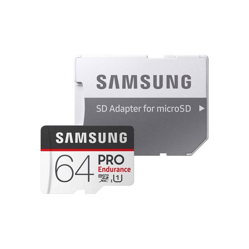 Tarjeta MicroSDXC 64GB UHS-I Samsung PRO Endurance c/adapt