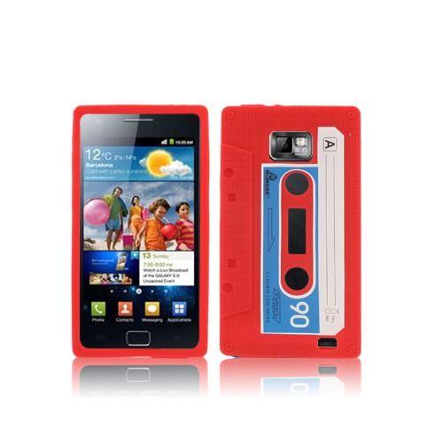 samsung-galaxy-s-2-funda-silicona-cassette-rojo