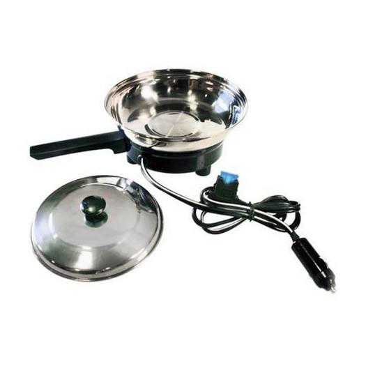 Sarten electrica con mechero 12v 500ml 150w 240 for Cocinar 12v