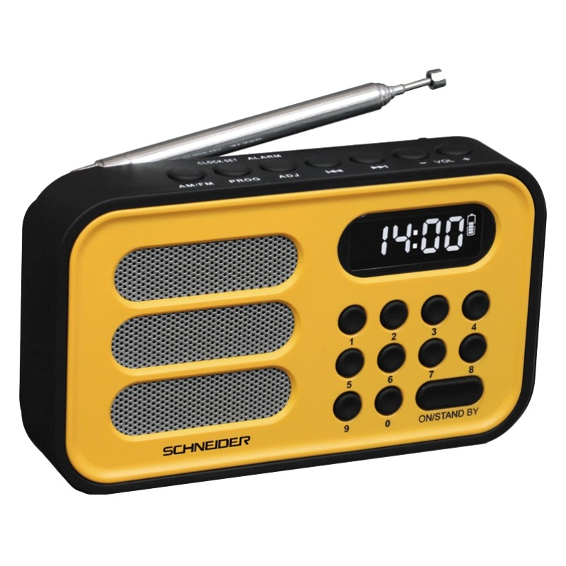 Radio Schneider Handy Mini Amarillo