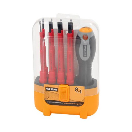 Set Destornillador 8 en 1 Electricista Westar 217419
