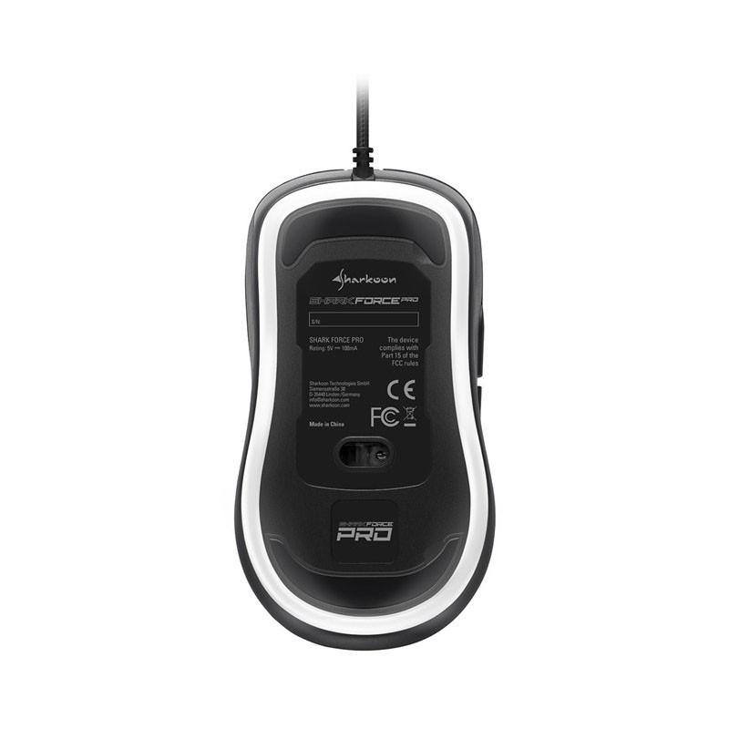 Ratón Óptico USB Sharkoon Shark Force Pro 3200DPI Negro / Blanco