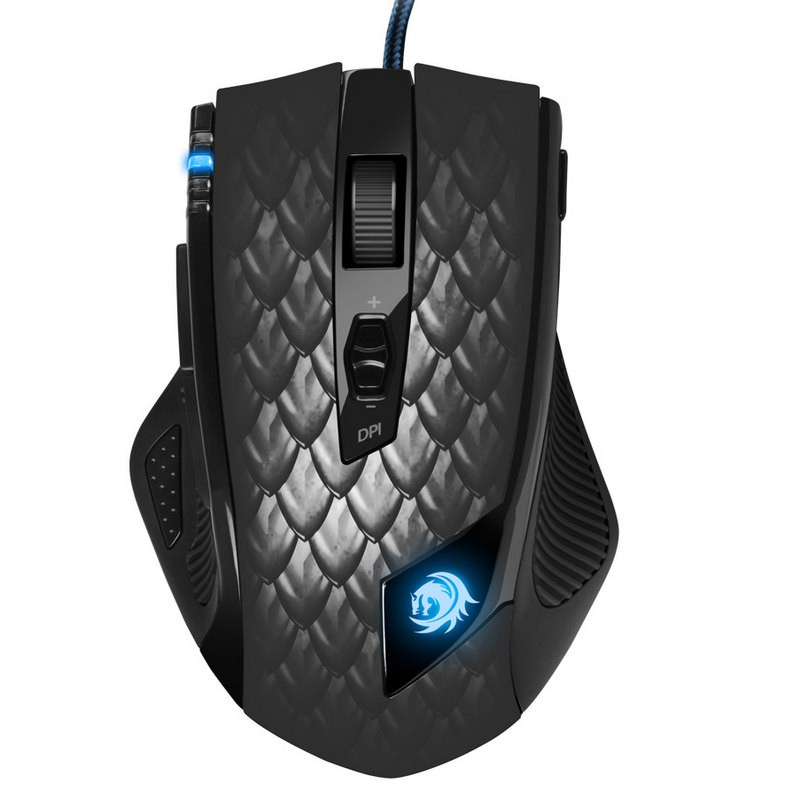 Ratón Láser Gaming Sharkoon Drakonia Black 8200 DPI