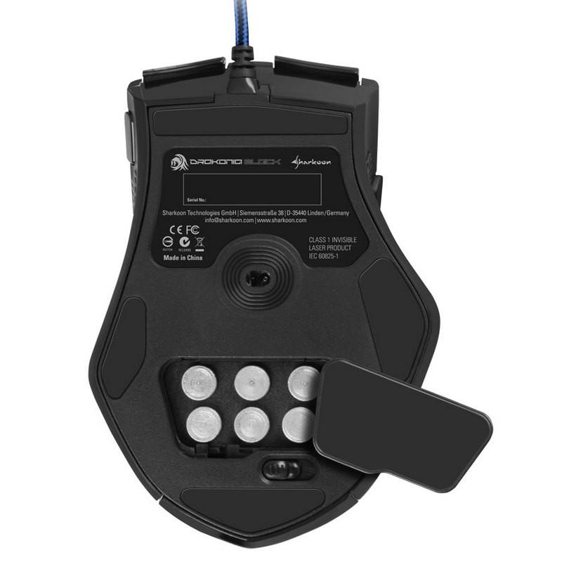Ratón Láser Gaming Sharkoon Drakonia Black 8200 DPI
