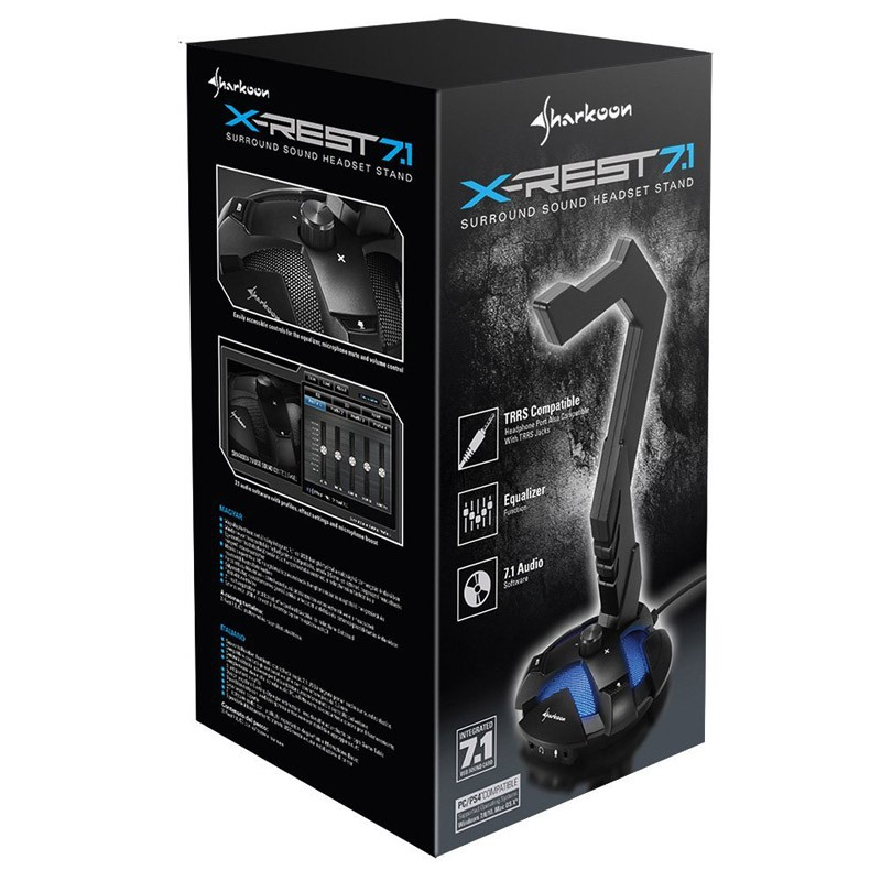 Soporte Auriculares Sharkoon X-Rest 7.1