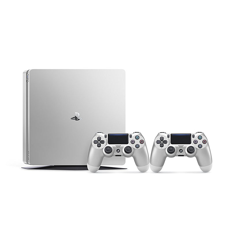 Sony PlayStation 4 Slim 500GB Plata + 2 Mandos Inalámbricos DualShock 4