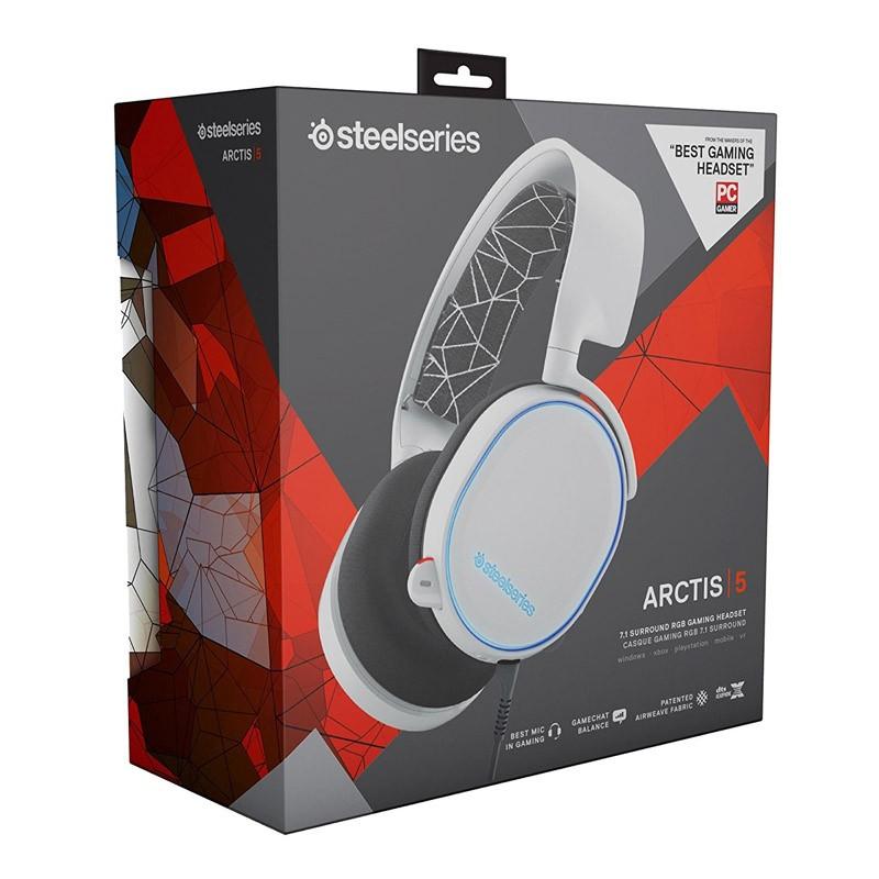 Auriculares SteelSeries Arctis 5 Blanco