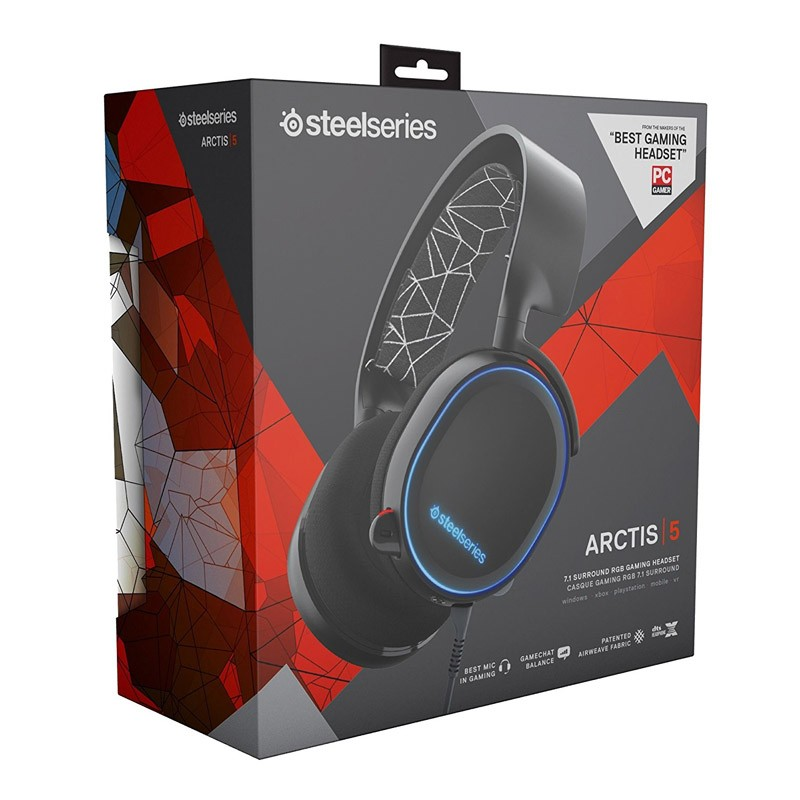 Auriculares SteelSeries Arctis 5 Negro