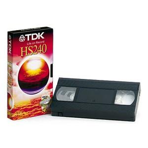 Cinta VHS TDK E-240HS 5 uds