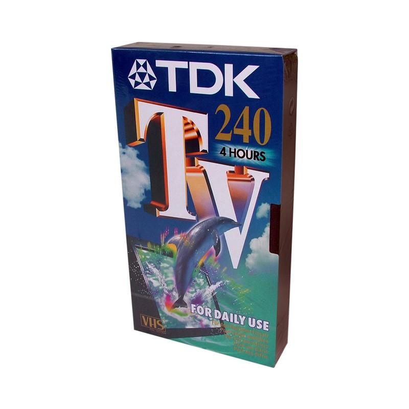 Cinta VHS TDK E-240 TV