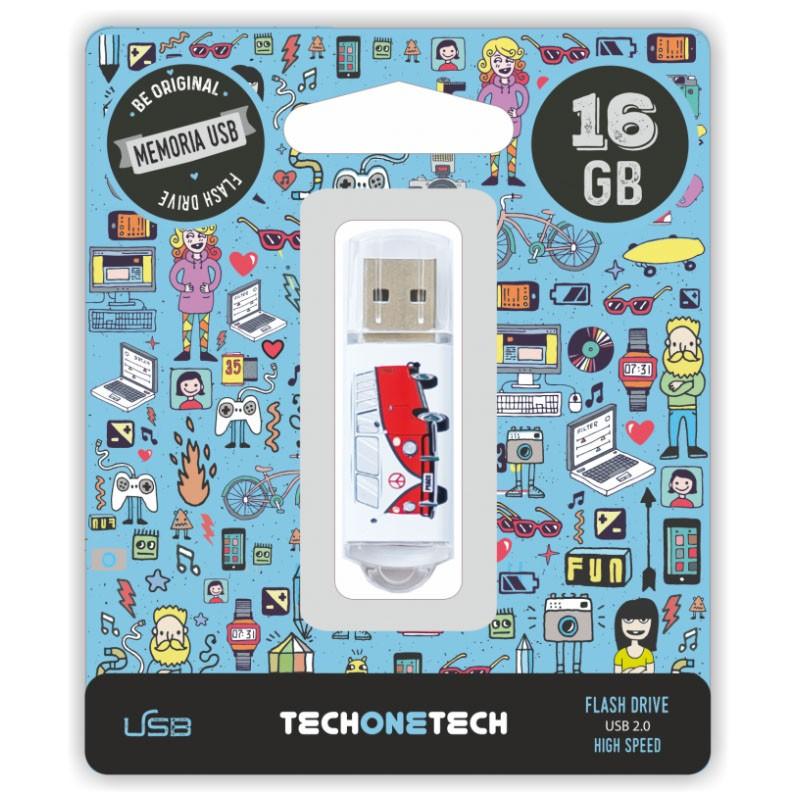 Pendrive 16GB Tech1Tech TEC4004-16 Camper Van-Van