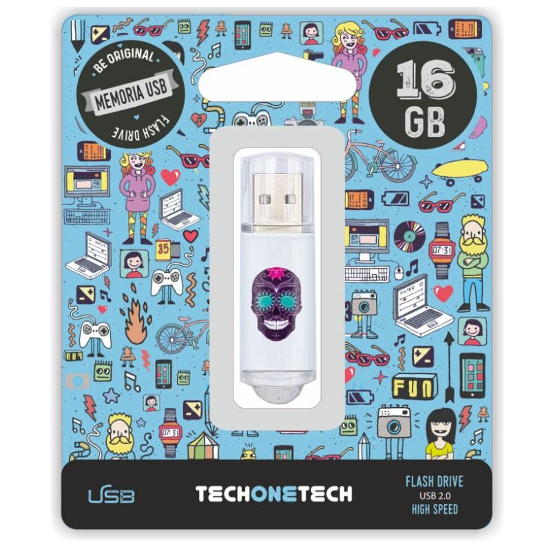 Pendrive 16GB Tech1Tech TEC4008-16 Calavera Maya