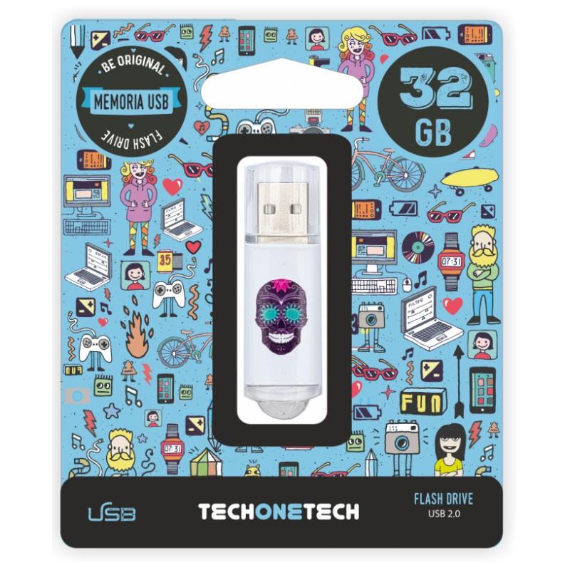 Pendrive 32GB Tech1Tech TEC4008-32 Calavera Maya