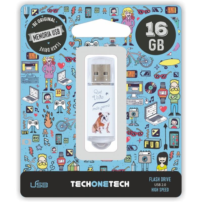 Pendrive 16GB Tech1Tech TEC4009-16 Que Vida Más Perra
