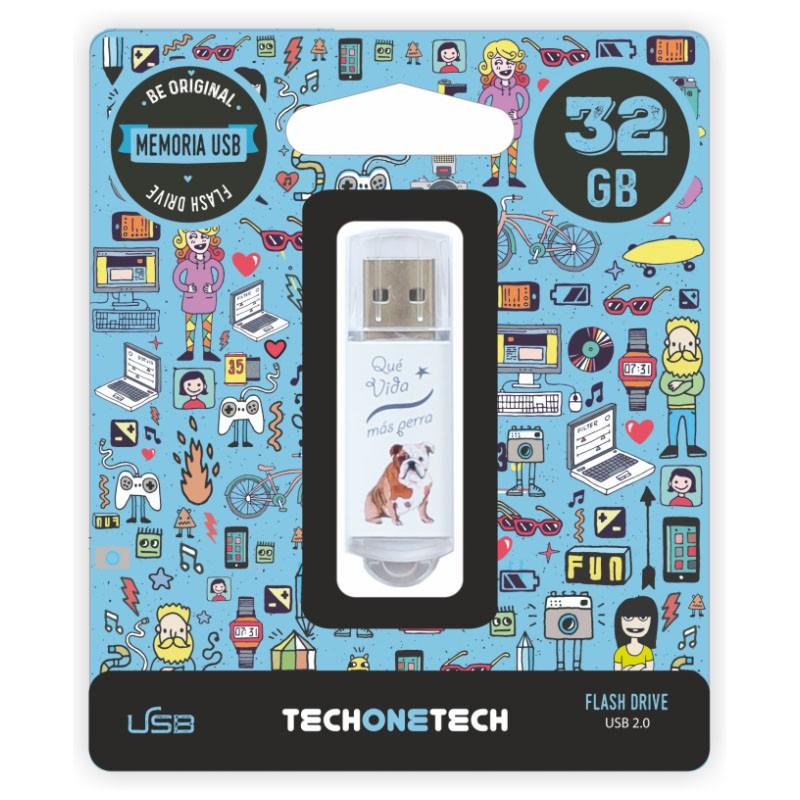 Pendrive 32GB Tech1Tech TEC4009-32 Que Vida Más Perra